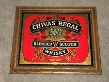 "Chivas Regal Blended Scotch Whisky Wood Framed 23.5"" x 19.5"" Glass Bar Sign"