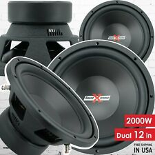 Pair of SoundXtreme 12 Inch Car Audio Subwoofer with DVC Power (2 Sub) 4000 Watt