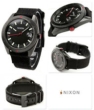 NIXON Rover Surplus Black Dial Black Men's Watch Nylon Canvas Strap A355001 NEW
