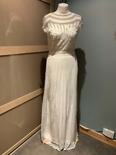 Sistaglam White Evening Gown With Embellishments Size 12