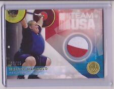 RARE 2016 TOPPS OLYMPIC HOLLEY MANGOLD GOLD RELIC CARD 08/25 ~ USA WEIGHTLIFTING