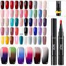 LEMOOC 5ml UV Gellack Pen Soak Off No Wipe Top Base Coat Nagel Kunst Gel Varnish