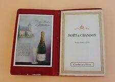 Ancienne carte des vins champagne Moët et Chandon 1743 gastronomie restaurant