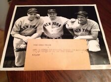 LOU GEHRIG JOE DIMAGGIO 1937 MLB BASEBALL NEW YORK YANKEES PHOTO BABE RUTH HOF