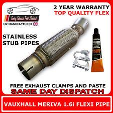 Opel Meriva 1.6i 2003-10 Échappement Remplacement Réparation Section Flexible