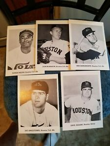 VINTAGE 1950s/60s JAY PUBLISHING HOUSTON COLTS LOT OF (5) NM