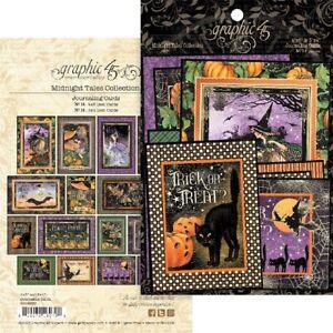 Graphic 45 Midnight Tales Ephemera & Journaling Cards