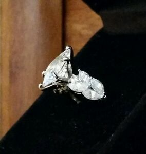 3 Carat Marquise Diamonique Solitaire Engagement Ring Sterling Silver Size 5 QVC