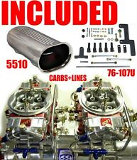Quick Fuel Q 650 B2 650 Cfm Blower Gas Supercharger Carbs With Scoop Line Kit
