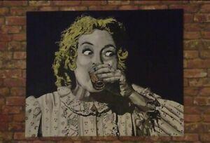 Original painting of Baby Jane the film Whatever Happened to Baby Jane