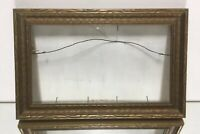"VTG. Aesthetic Victorian Art's & Craft's Gold Picture Frame Fits 5 1/4"" x 9 1/4"""