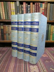 1946 Freeman LEE'S LIEUTENANTS; A STUDY IN COMMAND. ARLINGTON EDITION 4 Vol. Set