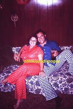 1970s 35mm Slide/Pretty Man & Woman Snuggling On Couch 70s Fashion Clothes SL105