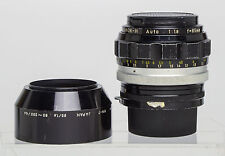 Nikon 85mm f/1.8 Lens, & HN7,  Non AI Nikkor H, F-mount Manual Focus