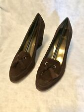 NEW Stuart Weitzman Lounge Brown Suede Wedge Loafers Shoes SZ 11B. $295 Neimans
