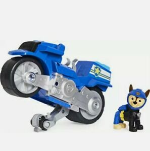 Paw Patrol Moto Pups Chase's Deluxe Pull Back Motorcycle Vehicle Brand New Toy