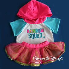 Build-A-Bear 'RAINBOW SQUAD' HOODIE TOP & SEQUIN TUTU SKIRT Teddy Clothes Outfit