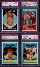 PSA 8 1959 Topps #550 Roy Campanella Symbol of Courage Dodgers MVP SET BREAK