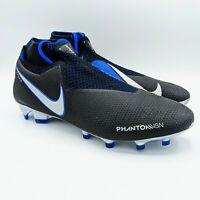 Nike Phantom VSN Vision Elite DF FG Soccer Cleats Black/Blue AO3262-004 Size 7.5