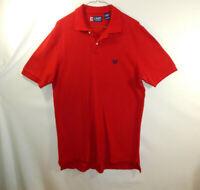 Ralph Lauren Chaps Mens Short Sleeve Polo Golf Dress Shirt Red SIZE SMALL S