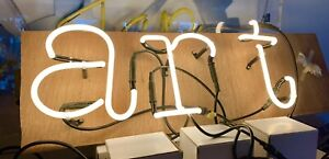 "Light Up Neon Letters Spelling ""ART"" Each Letter Is Mountable Read Description."