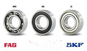 6200-6212 SKF/FAG BALL BEARING RUBBER OR METAL SEALS (2RS/2ZZ) SELECT YOUR SIZE