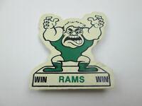 Vintage Win Rams Win Pennsylvania High School Pin Button Pinback