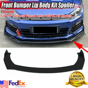 US Car Front Bumper Lip Splitter Gloss Black For VW Golf MK6 MK7 MK7.5 GTI GTD R
