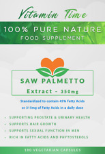 Saw Palmetto extract 45% Fatty Acids, Prostate & Urinary support, Stop Hair Loss