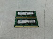 Lot of 2 Crucial CT8G3S1339M 8GB DDR3L-1333 SODIMM RAM for Apple MacBook Pro