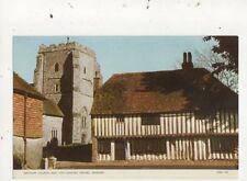 Westham Church & Houses Pevensey Sussex Postcard 760a