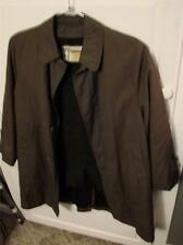 Mister For Rain Or Shine 365 Green LIned Coat Size 14 Vintage NICE