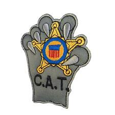 US secret service counter assault team CAT black bordado parche hook patch