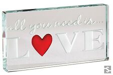 Spaceform Glass Landscape Token All You Need Is Love Romantic Xmas Gift Box 1873