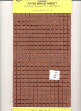 Patio Clay Brick Tile Sheet miniature floor #8202   1/12 Scale Houseworks