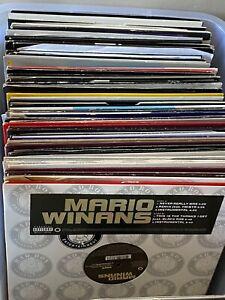 "JOB LOT   7 x Random selected R & B Hip Hop Electronic Garage 12"" vinyl singles"