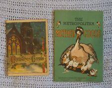 Vintage Hancock Life Christmas Carol Metropolitan Life Mother Goose booklet lot
