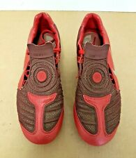 NIKE TOTAL 90 LASER II FOOTBALL BOOTS - FG - UK 5 in Red & Silver