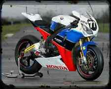 Equipo Honda TT leyendas A4 Metal Sign moto antigua añejada De