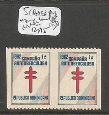 Dominican Republic SC RA33 Pair Imperf Between MNG (4cxj)