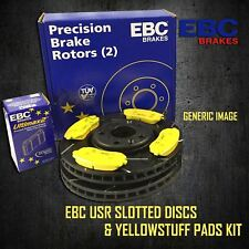EBC 296mm FRONT USR SLOTTED BRAKE DISCS + YELLOWSTUFF PADS KIT SET PD08KF389