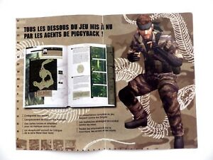 Metal Gear Solid Ams Leaflet Double Sided Konami Game 9 3/8x7 1/8in