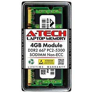 A-Tech 4GB PC2-5300 Laptop SODIMM DDR2 667MHz 200pin Non-ECC Notebook Memory RAM