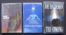 Joe Haldeman Lot - COSMIC LAUGHTER MINDBRIDGE COMING - 1st Ed/1st prtg - HC/DJ