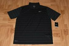 Nike Dri-Fit Striped Mens Tennis Polo - Mens Size Large
