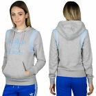 Adidas Originals Women's Flock Trefoil Logo Hoodie Hooded Jacket Hoody BJ8381