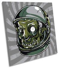 Imagen de casco de caracteres astronauta LONA pared arte cuadrado de impresión