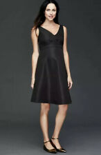 Gap Maternity Double V-neck sleeveless dress  Black SIZE 4 New W Tags