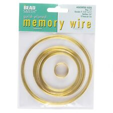 Beadsmith Memory Wire Gold Plated 10 Loops 5 Sizes (E41/2)