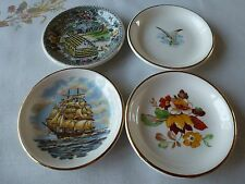 Collection of 4 Antique/Vintage Adams Ironstone Pin Dishes in Different Designs